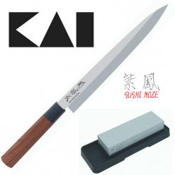 Zvýhodnený set na sushi (nôž MGR-0240Y + brúsny kameň AP-0305)