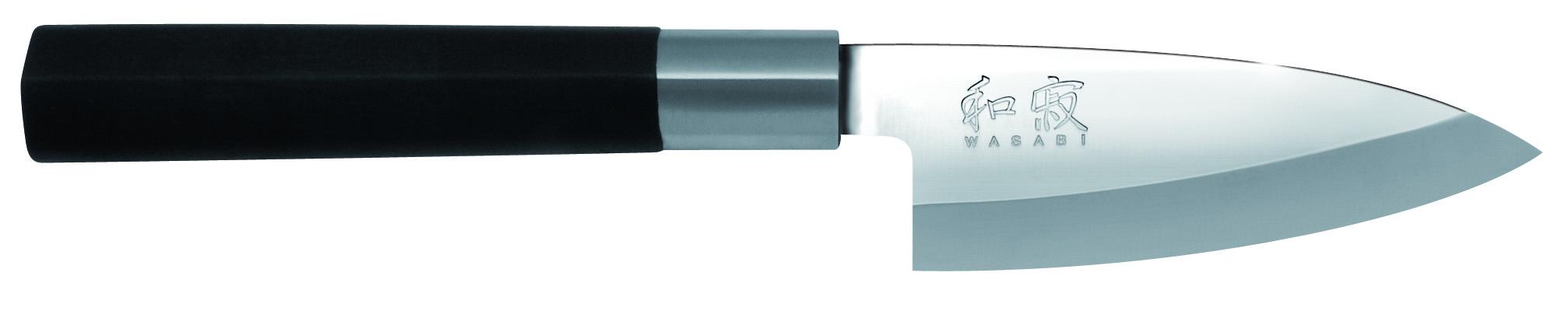 Japonský kuchynský nôž Wasabi Black Deba 6710D
