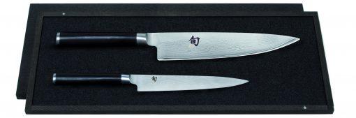 Damašková sada nožov v drevennej krabičke Shun DMS-220