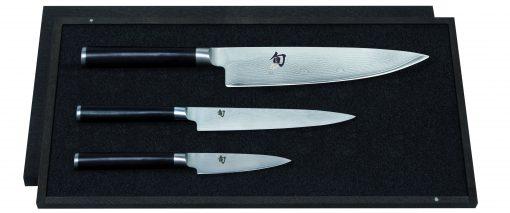 Damašková sada nožov v drevennej krabičke Shun DMS-300