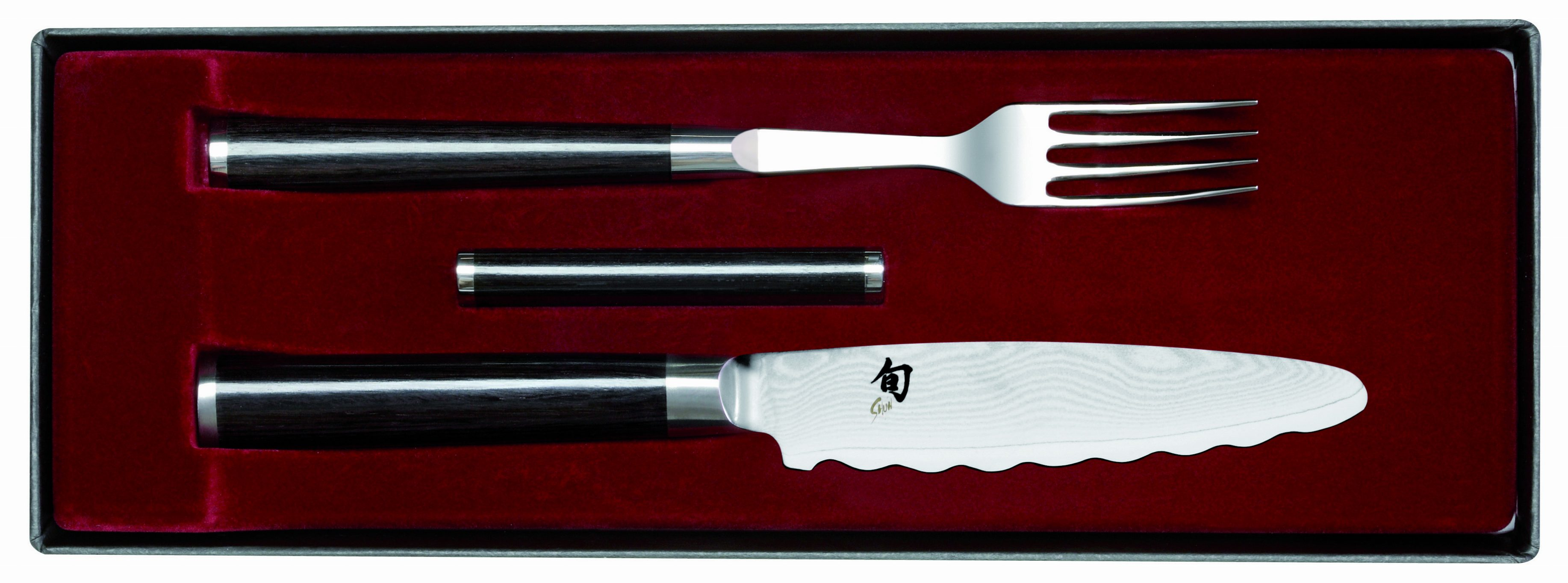 Luxusný damaškový príbor na steak Shun DM-0908