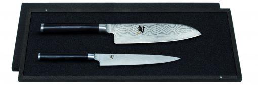 Damašková sada nožov v drevennej krabičke Shun DMS-230