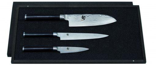 Damašková sada nožov v drevennej krabičke Shun DMS-310